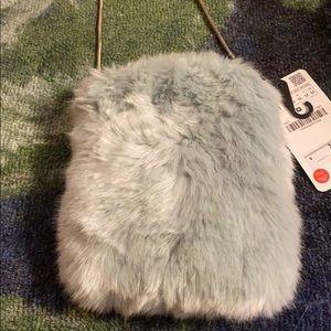 Zara small furry purse